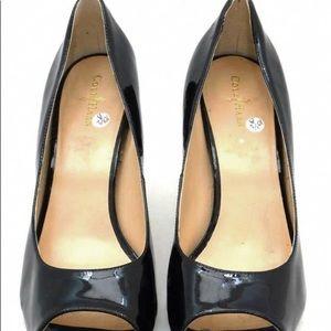 Cole Haan Nike air black pump heels 10.5